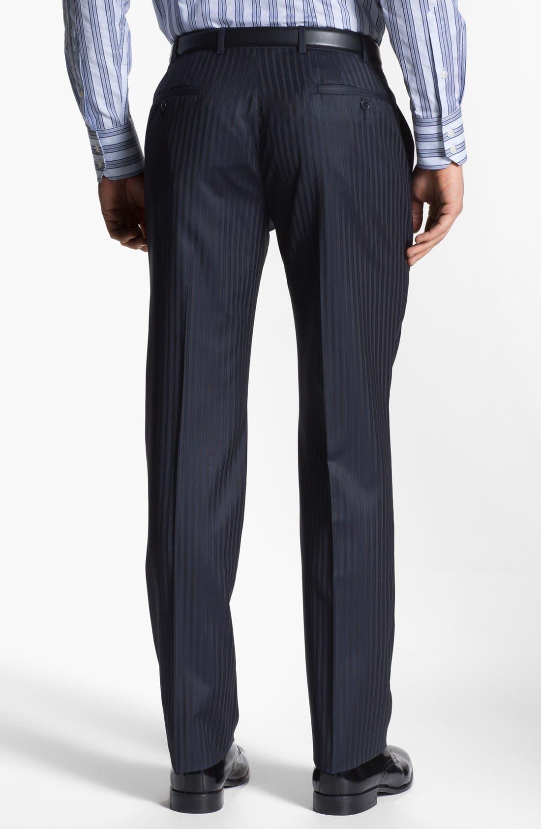 Alternate Image 5  - Versace Trim Fit Stripe Suit