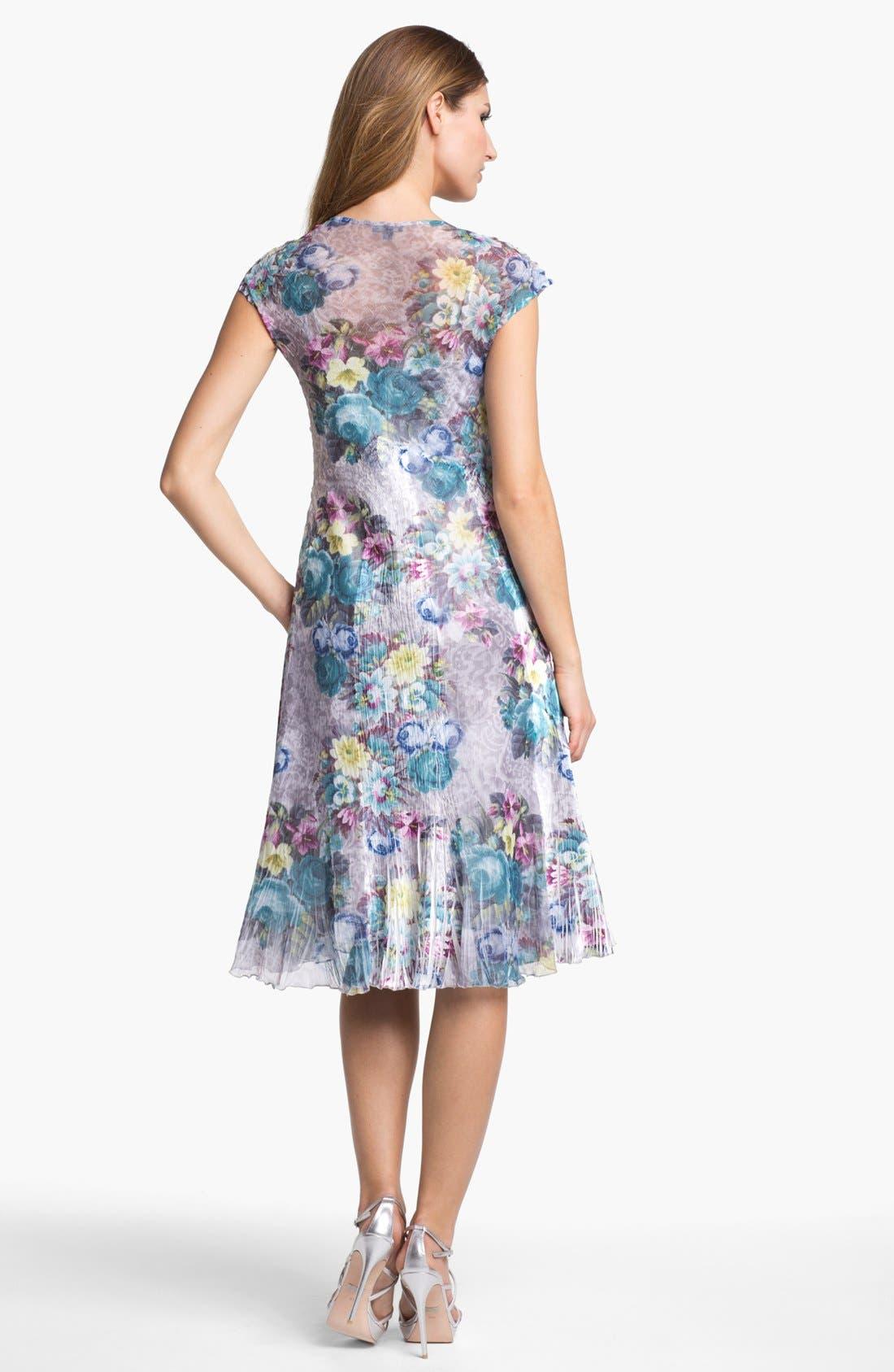Alternate Image 2  - Komarov Floral Print Textured Chiffon Dress