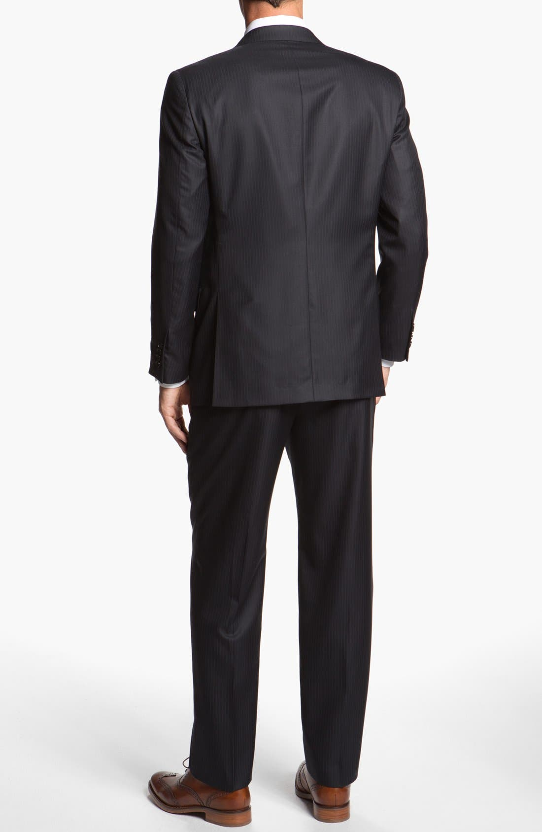 Alternate Image 3  - Hickey Freeman Stripe Wool Blend Suit