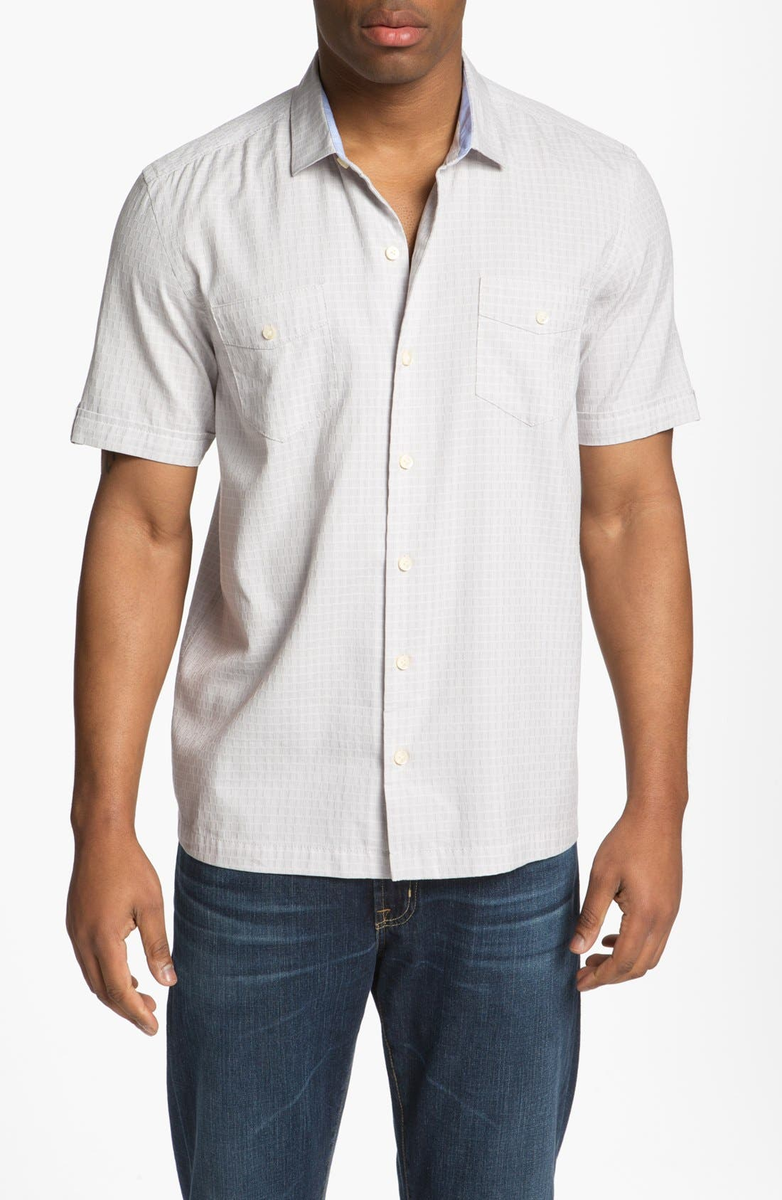 Main Image - Tommy Bahama 'Sound Wave' Silk Blend Campshirt