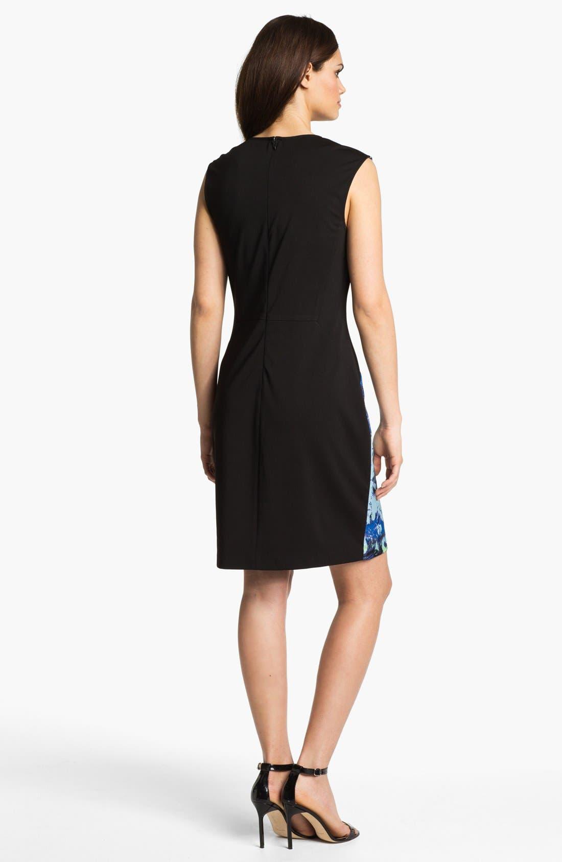 Alternate Image 2  - Suzi Chin for Maggy Boutique Front Print Sheath Dress