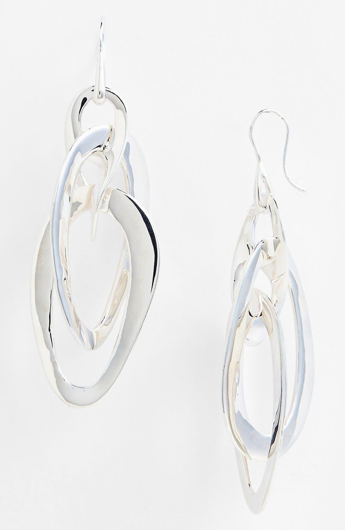 Main Image - Ippolita 'Scultura - Jet Set' Wavy Oval Drop Earrings