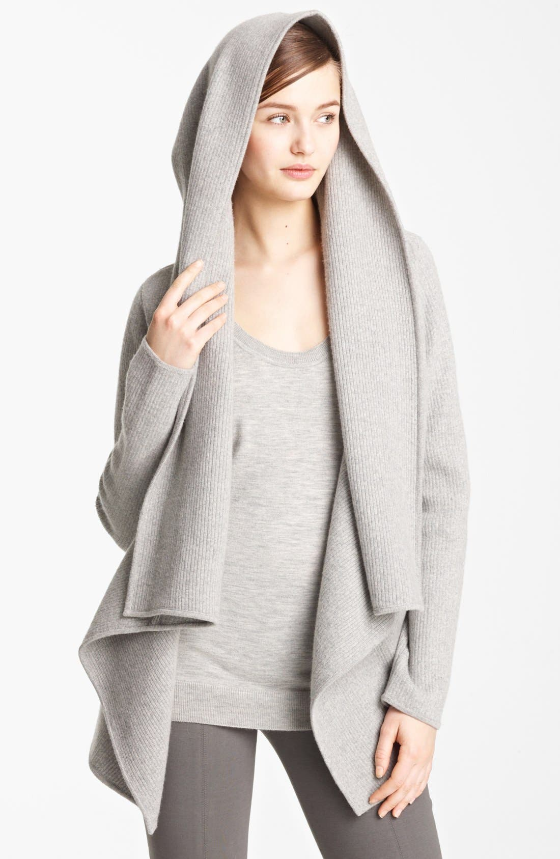 Alternate Image 3  - Donna Karan Collection Hooded Cashmere Cozy