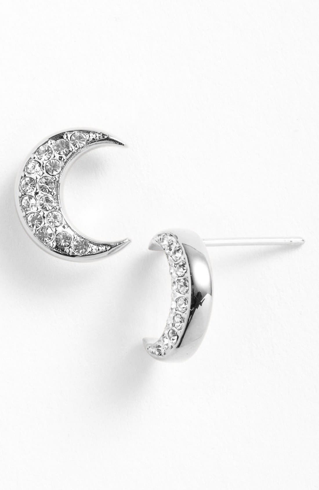 Main Image - Nadri 'Charmers' Pavé Symbol Stud Earrings (Nordstrom Exclusive)