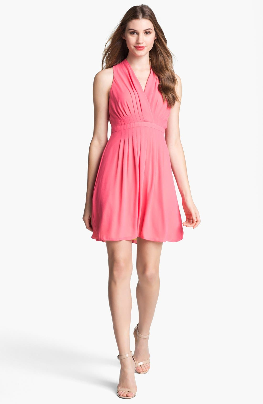 Alternate Image 1  - Marc New York by Andrew Marc Sleeveless Pleat Dress