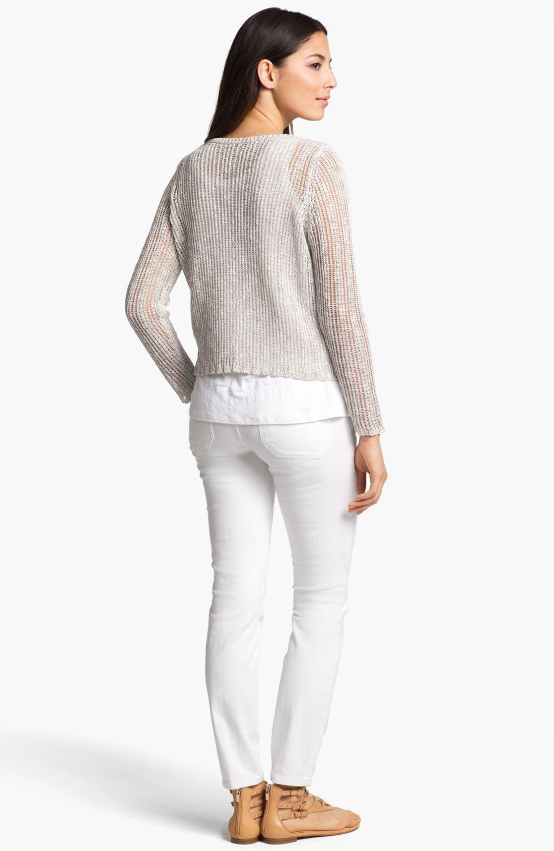 Alternate Image 5  - Eileen Fisher Ballet Neck Boxy Sweater