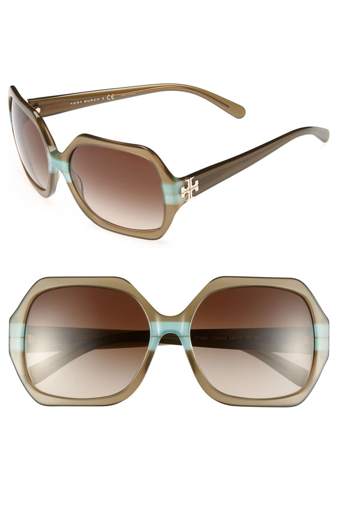 Alternate Image 1 Selected - Tory Burch 58mm Sunglasses (Online Only)