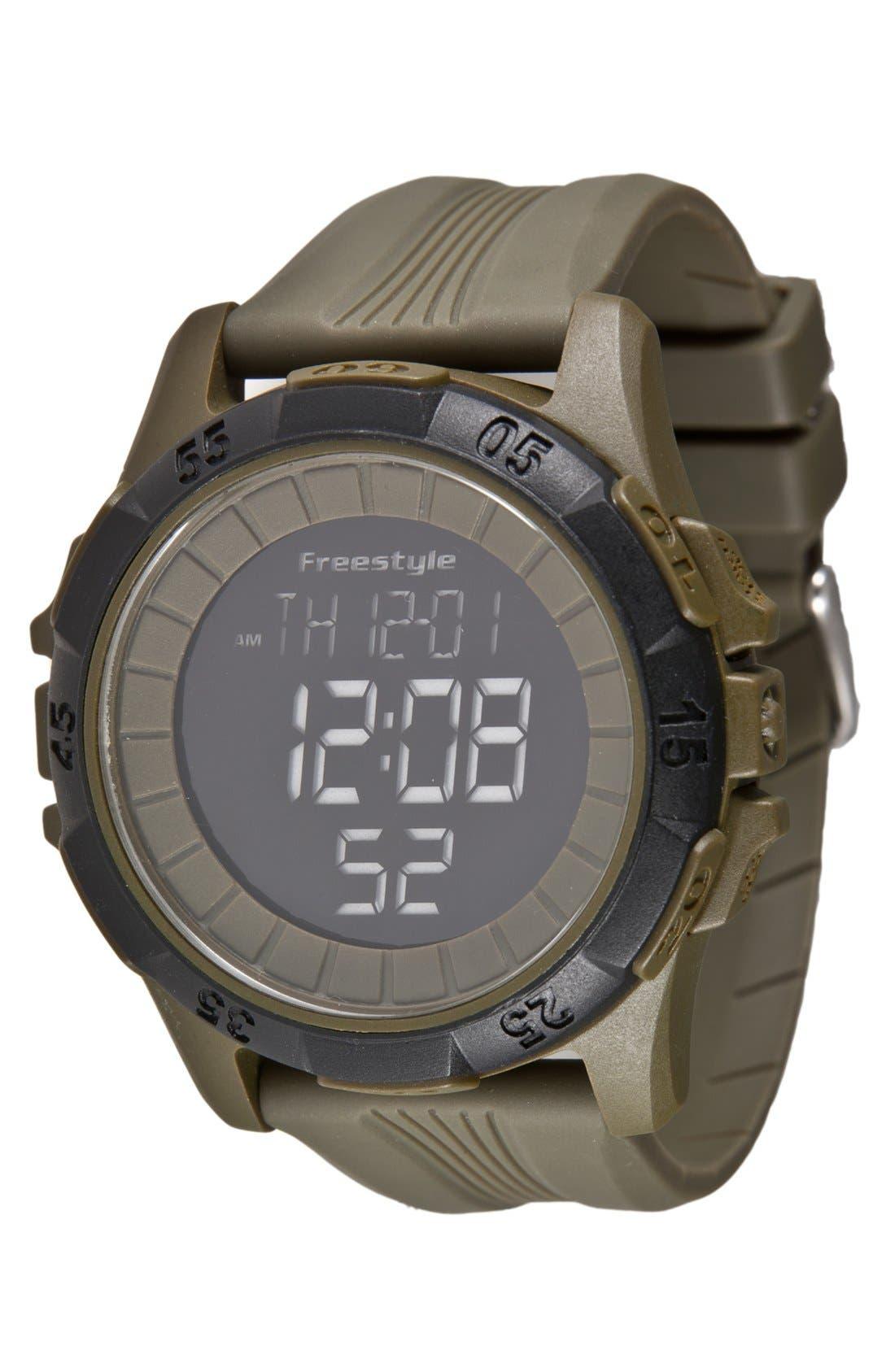 Main Image - Freestyle 'Kampus' Round Digital Watch, 47mm