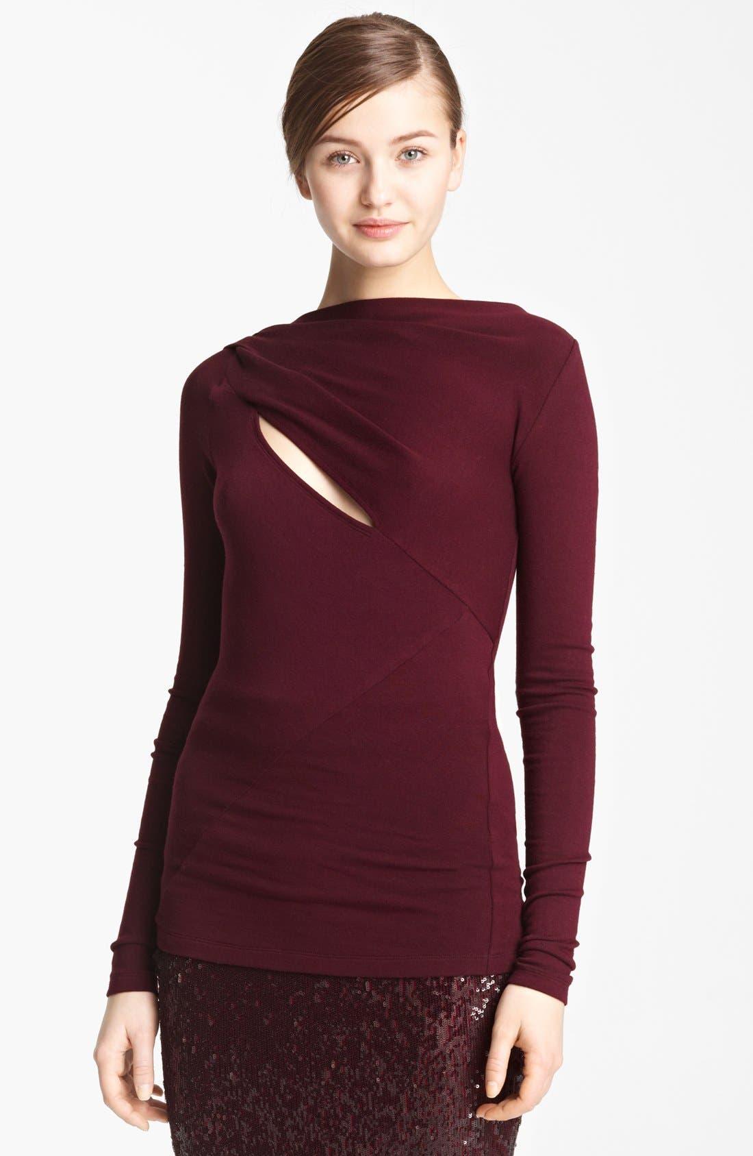 Main Image - Donna Karan Collection Slash Jersey Top
