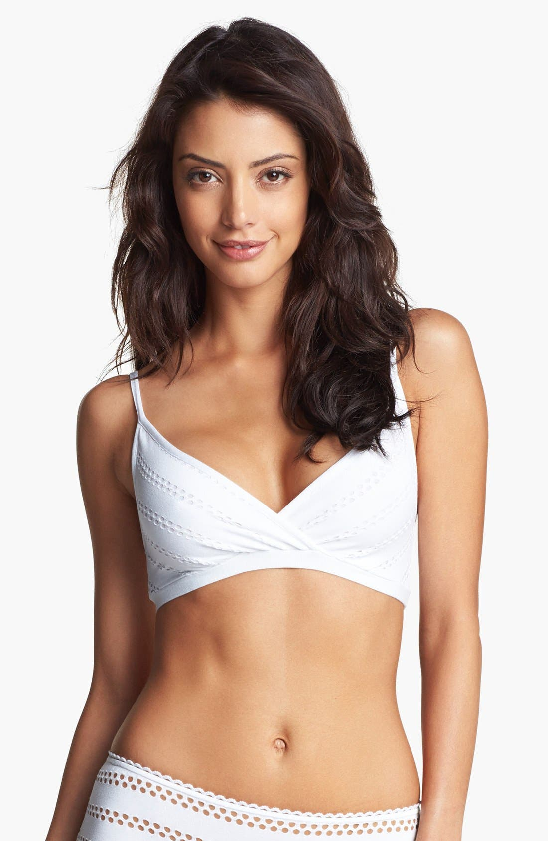 Alternate Image 1 Selected - Only Hearts Eyelet Jersey Bralette