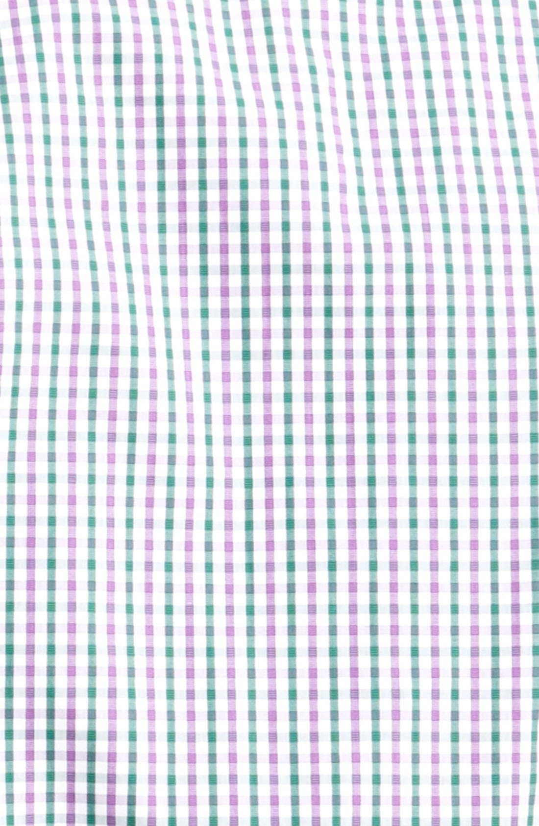 Alternate Image 3  - Etro Check Print Cotton Sport Shirt