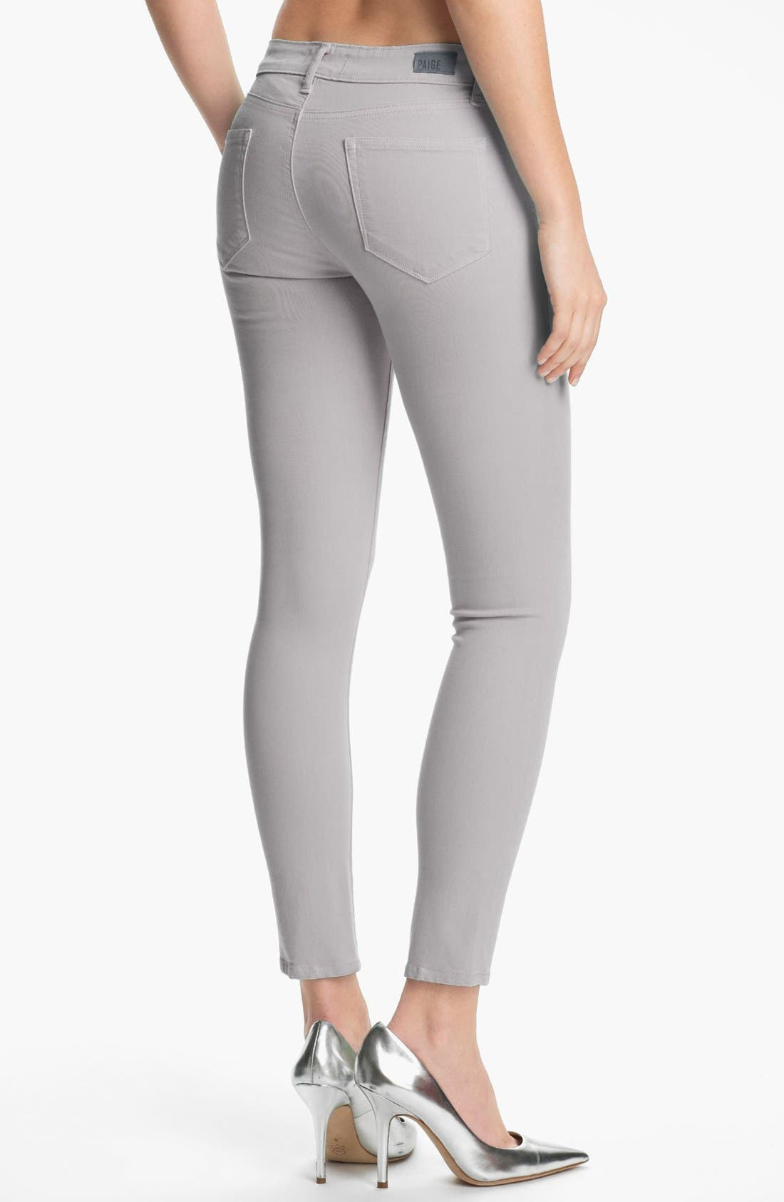 Alternate Image 2  - Paige Denim 'Verdugo' Ultra Skinny Ankle Jeans (Metal)