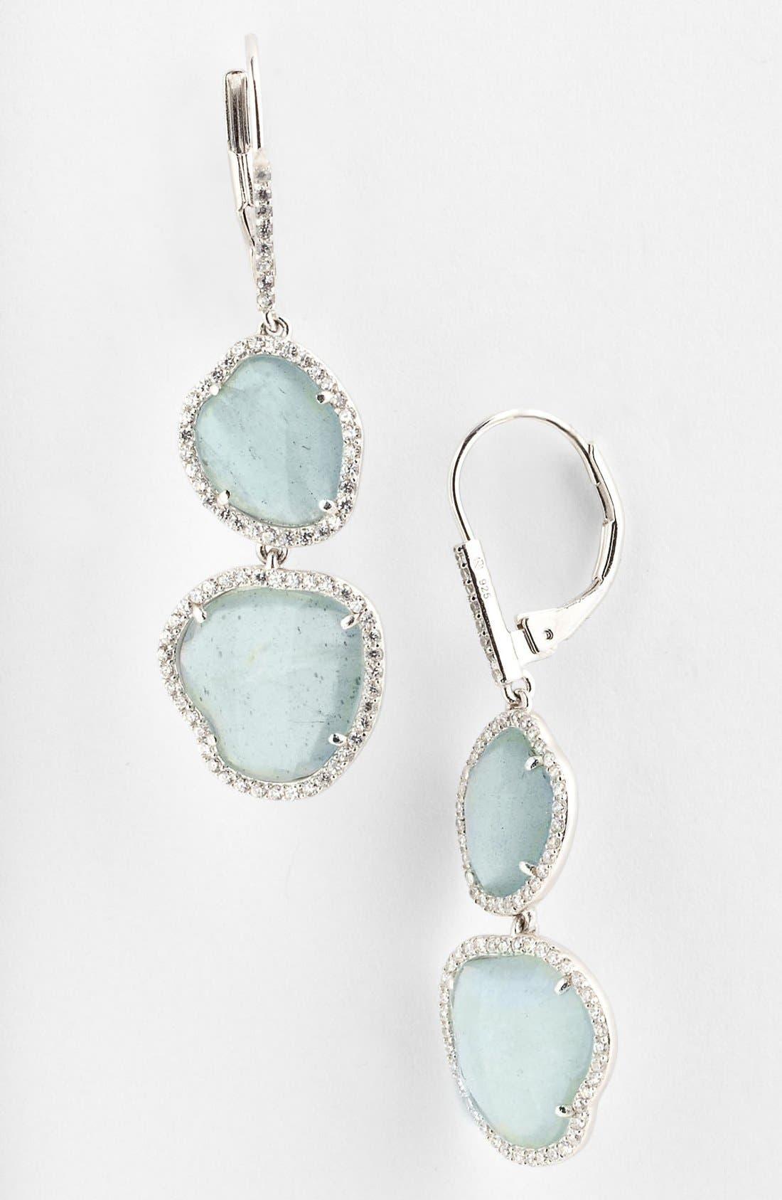 Main Image - Nadri Aquamarine Drop Earrings (Nordstrom Exclusive)