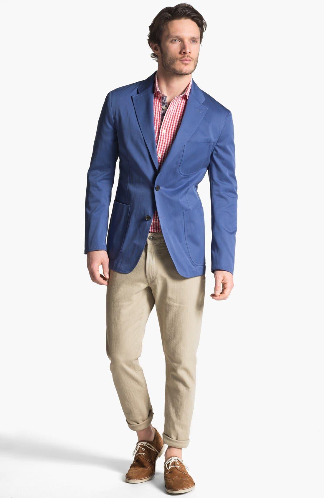 Alternate Image 1 Selected - Joseph Abboud Blazer, Thomas Dean Sport Shirt & Bonobos Jeans