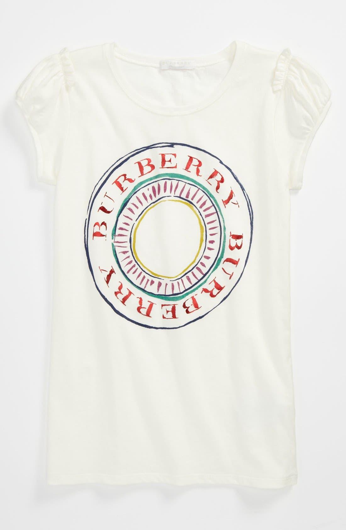 Alternate Image 1 Selected - Burberry 'Tab Stamp' Tee (Little Girls & Big Girls)