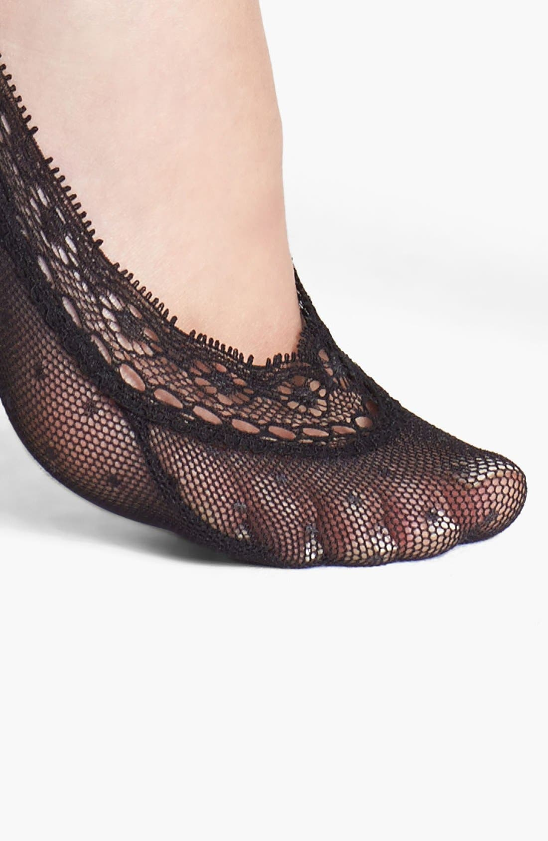 Alternate Image 2  - Nordstrom Pin Dot Mesh Footies (3 for $15)