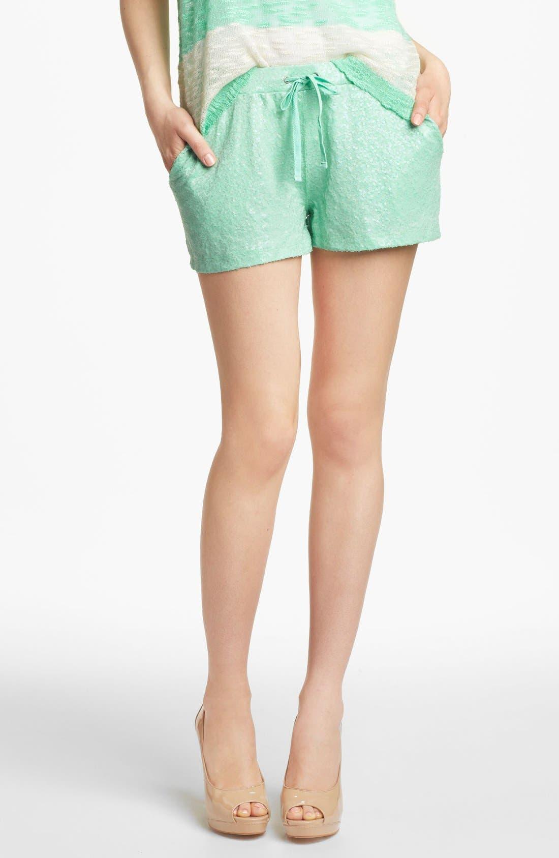 Main Image - Kensie Sequin Shorts