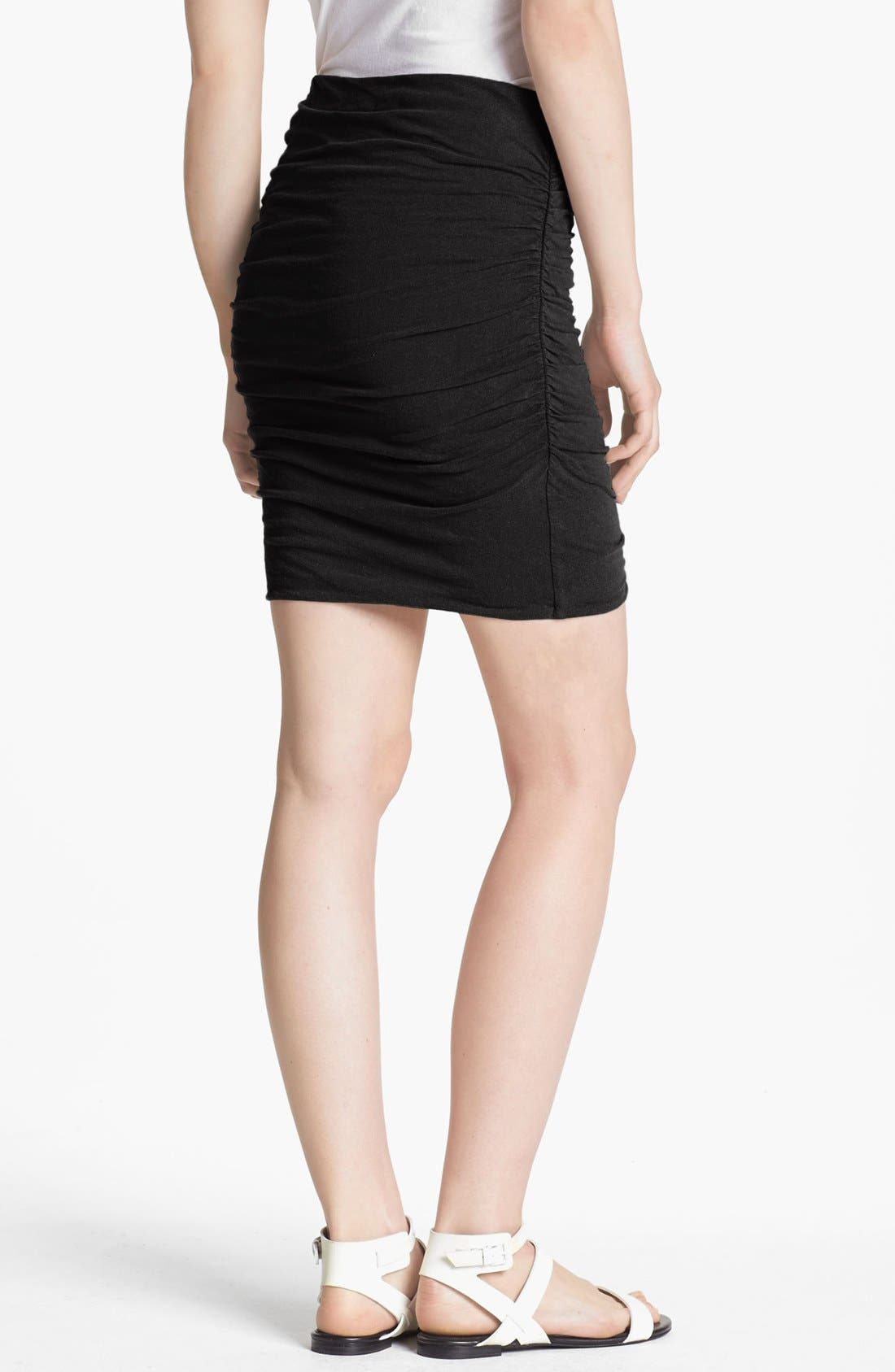 Alternate Image 2  - James Perse Ruched Linen Blend Miniskirt