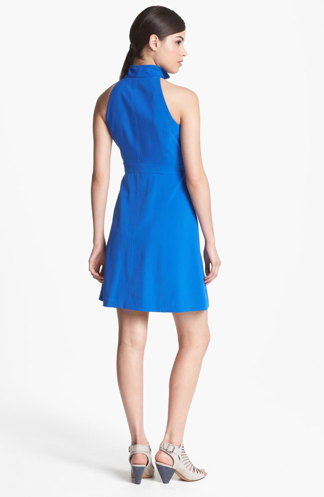 Alternate Image 2  - Marc New York by Andrew Marc Sleeveless Zip Front A-Line Dress