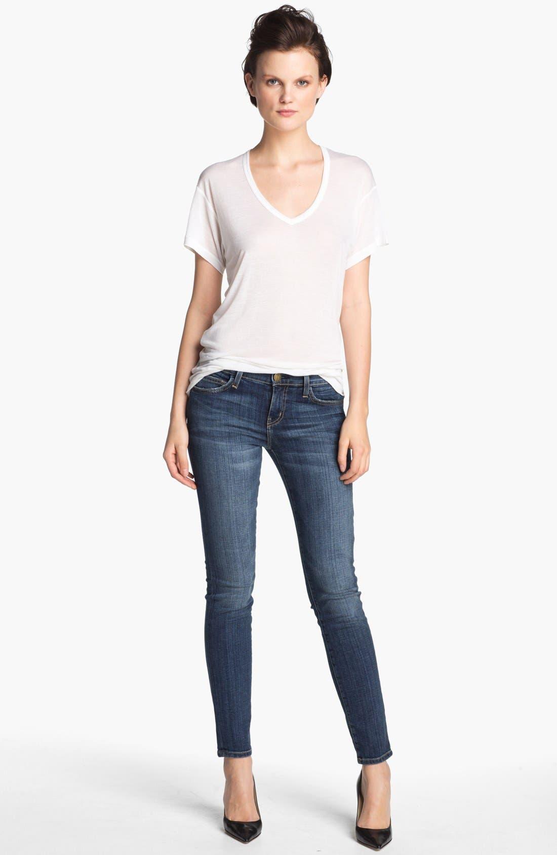 Alternate Image 3  - Current/Elliott 'The Ankle' Skinny Jeans (Loved)