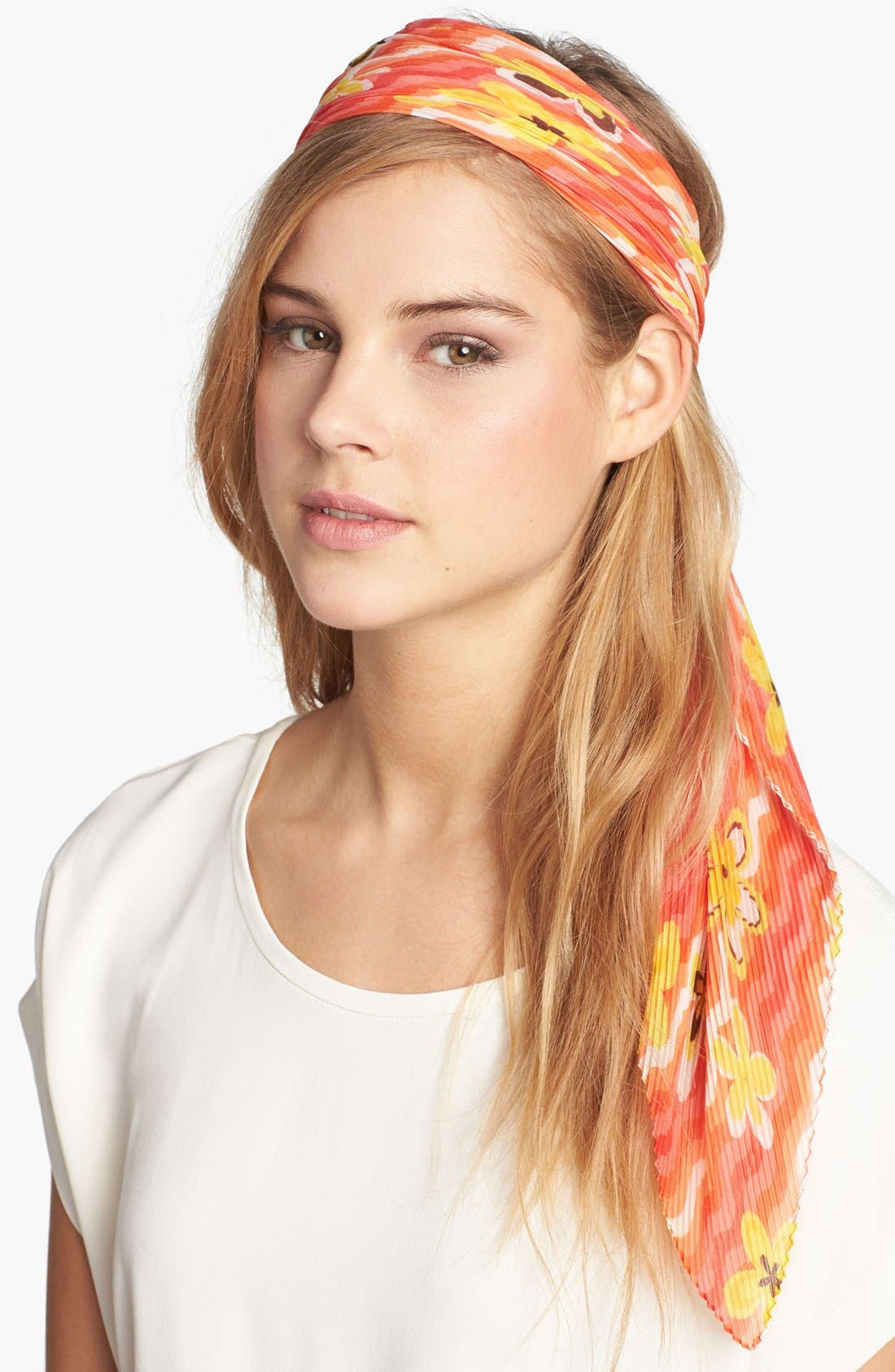 Main Image - Nordstrom Pleated Floral Scarf