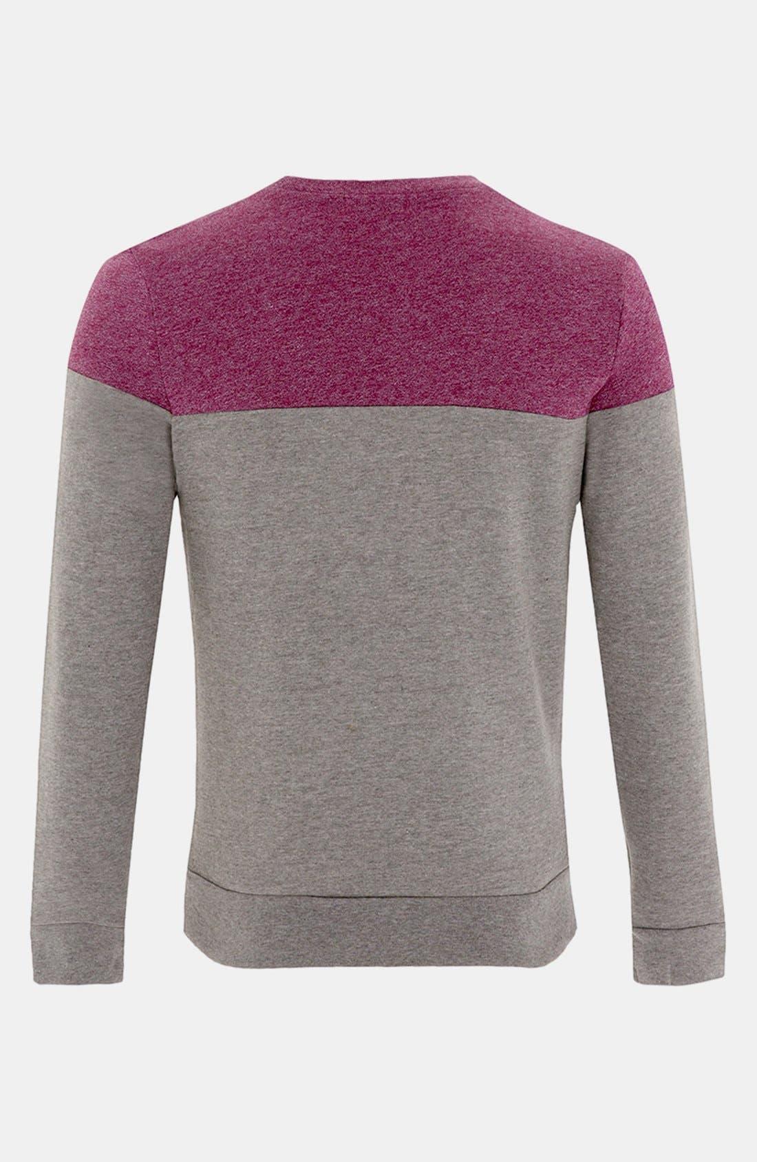 Alternate Image 2  - Topman Cut & Sew Crewneck Sweatshirt
