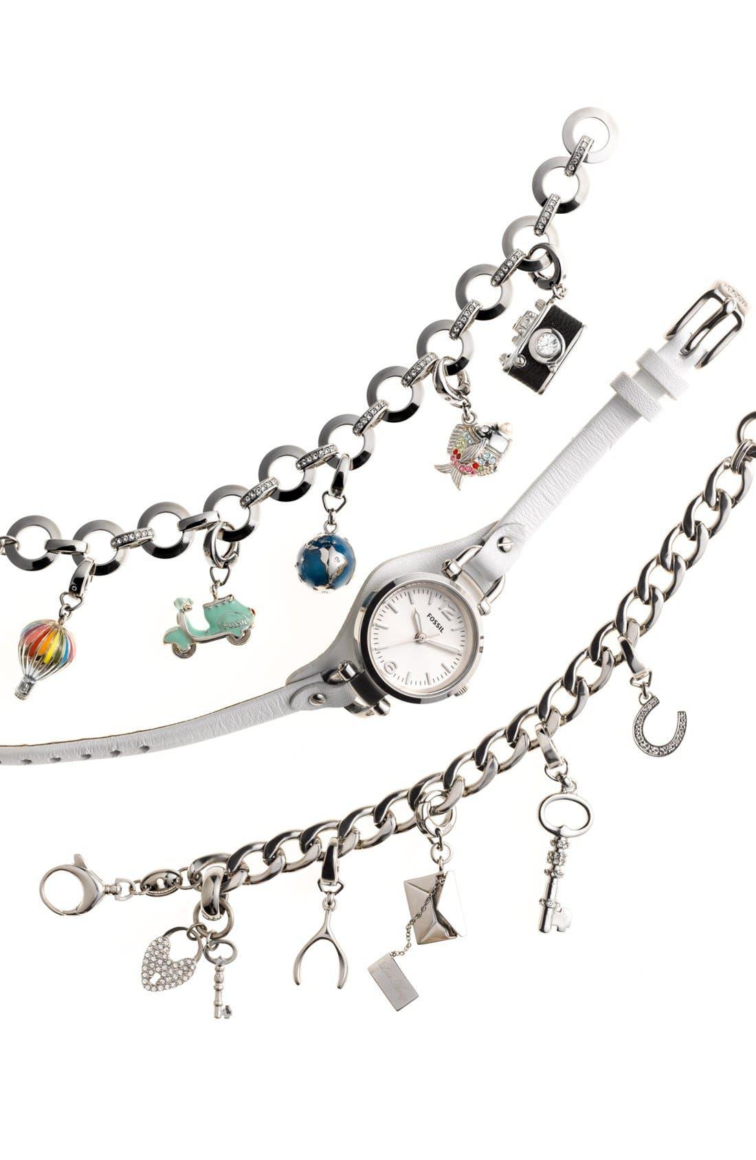 Alternate Image 3  - Fossil Curb Link Charm Bracelet