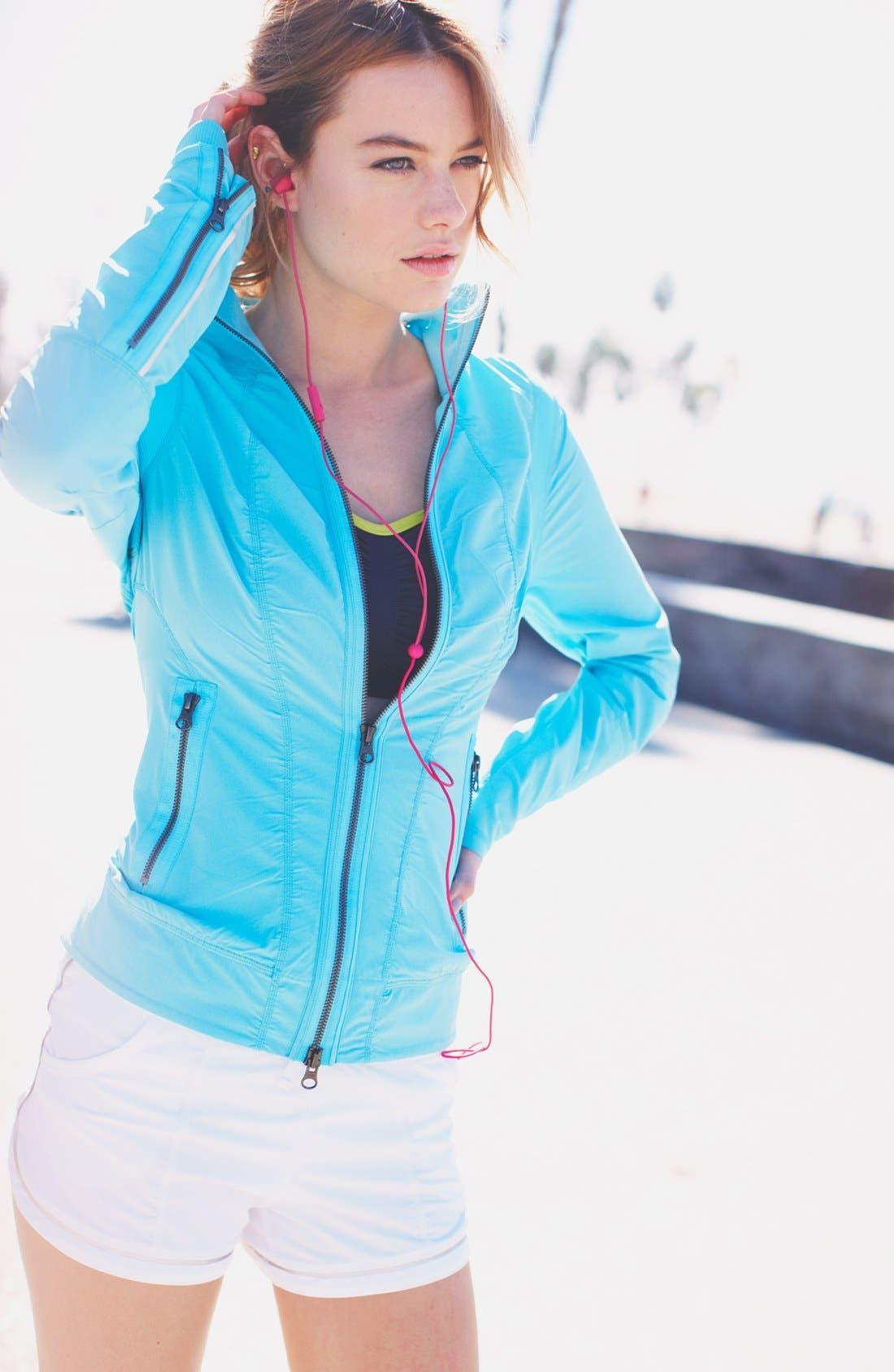 Alternate Image 3  - Zella Jacket, Bra & Shorts