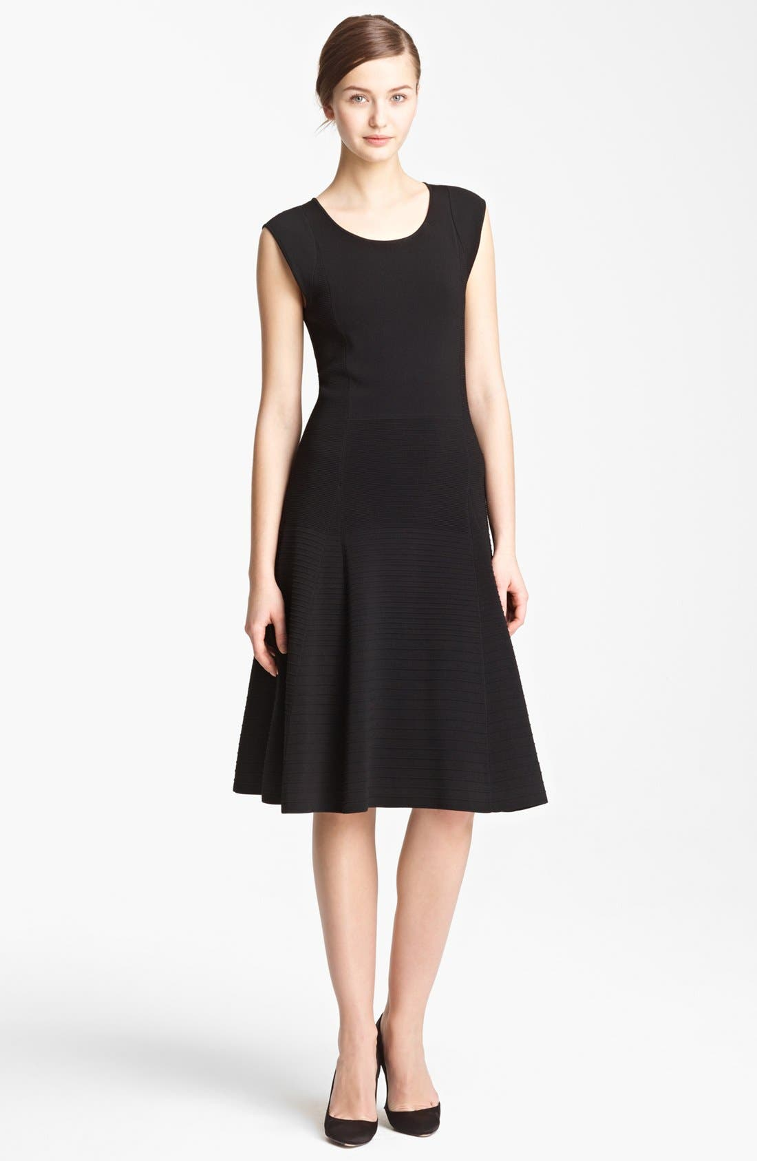 Main Image - Donna Karan Collection Ottoman Stitch Dress