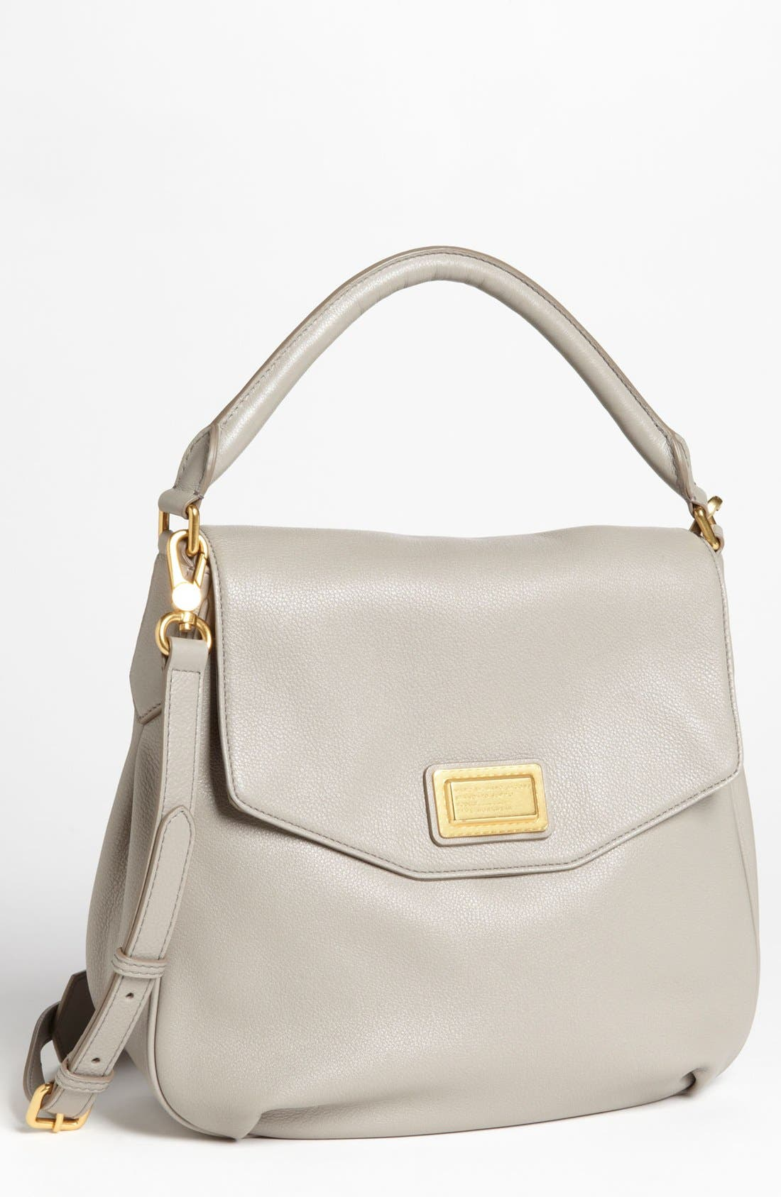 Alternate Image 1 Selected - MARC BY MARC JACOBS Leather Flap Hobo