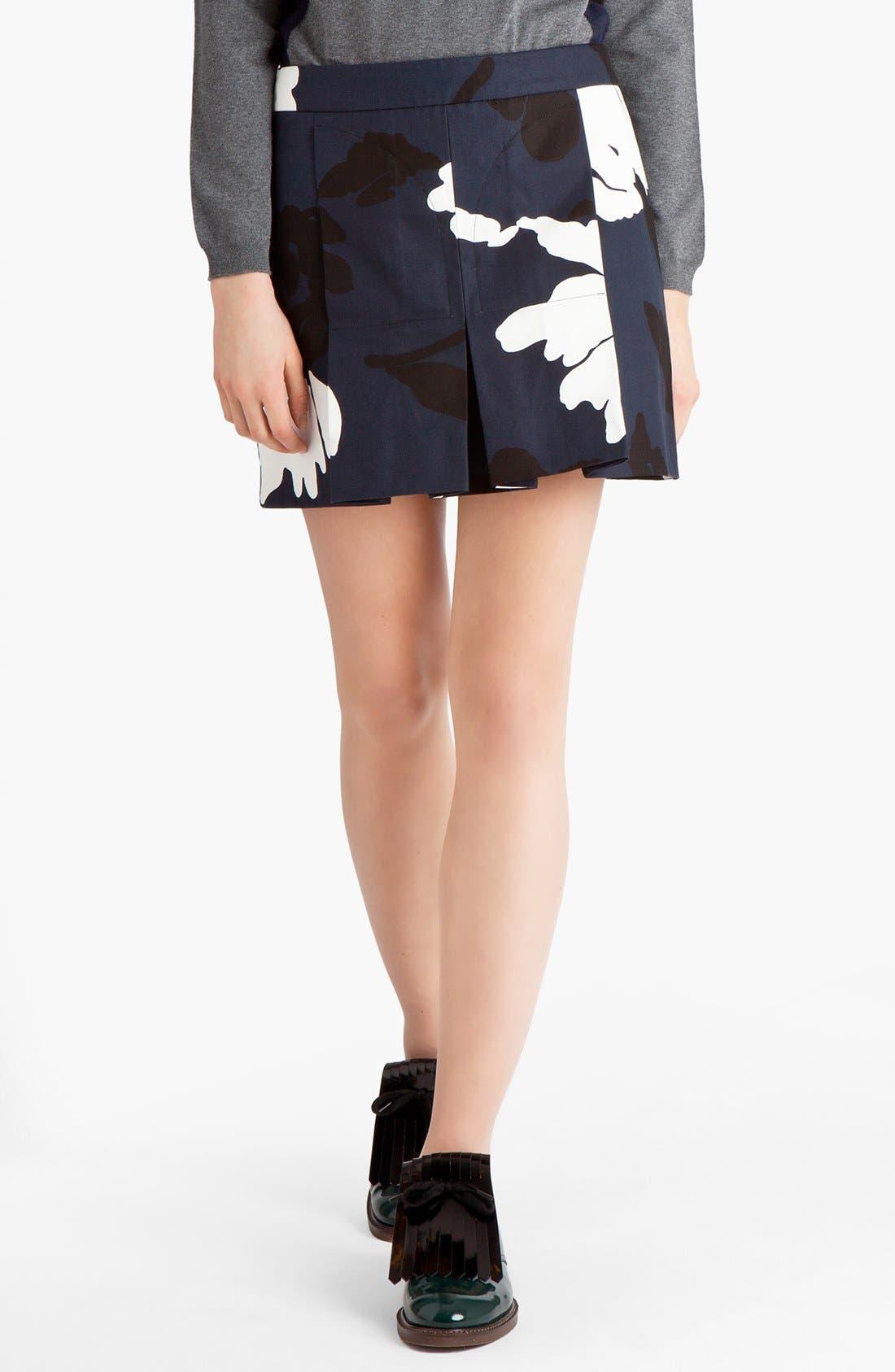 Main Image - Marni Print Gabardine Miniskirt