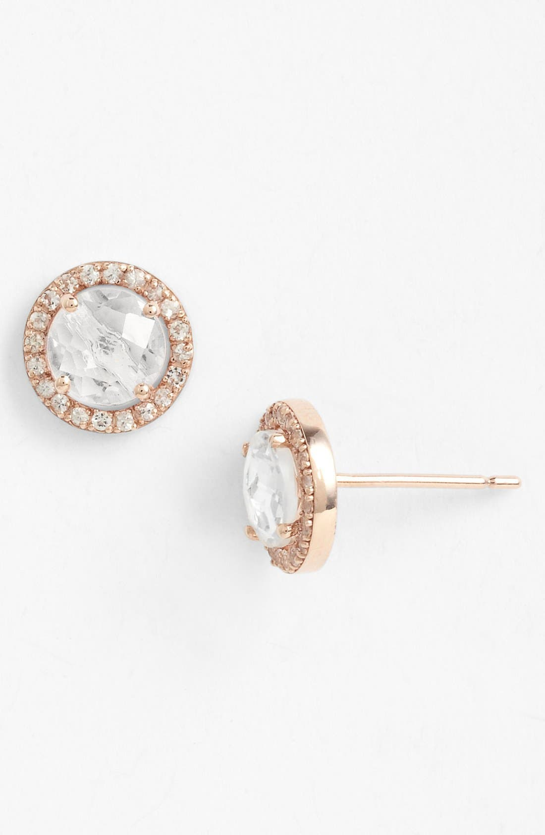 Alternate Image 1 Selected - KALAN by Suzanne Kalan Round Sapphire Bezel Earrings