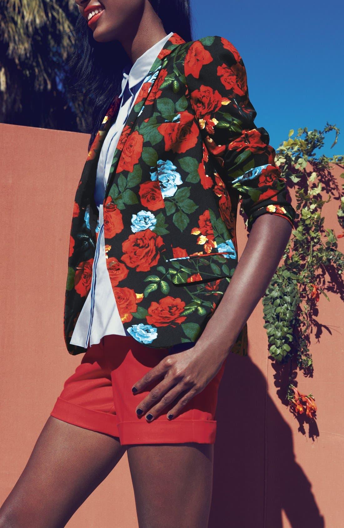 Alternate Image 4  - Vince Camuto Rose Print Blazer (Plus Size)