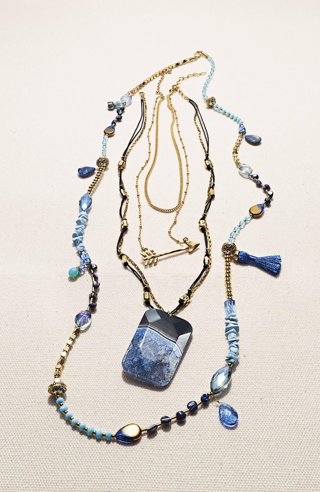 Alternate Image 3  - Nordstrom 'Azteca' Multistrand Pendant Necklace