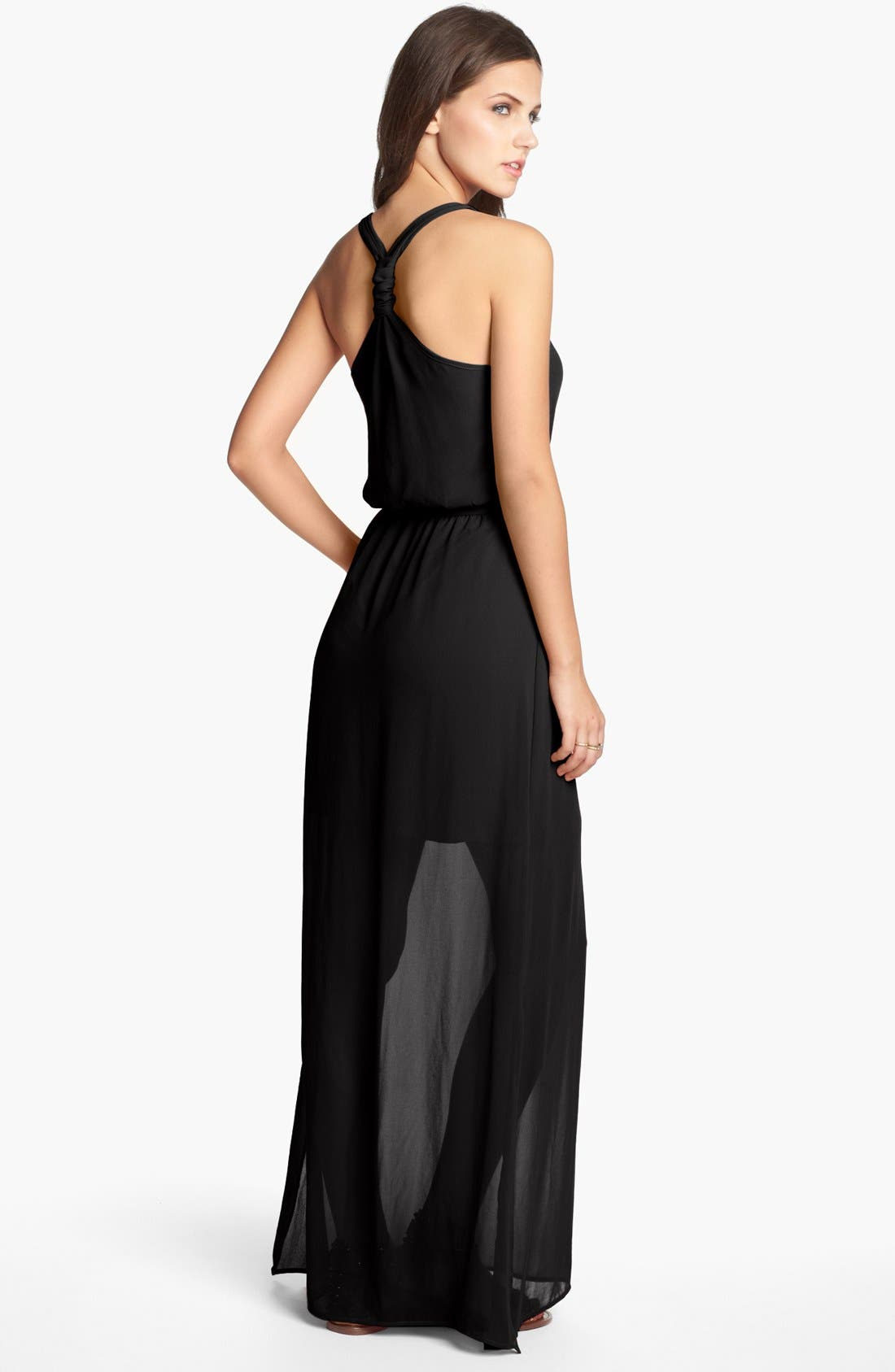 Main Image - dee elle Knot Back Maxi Dress (Juniors)