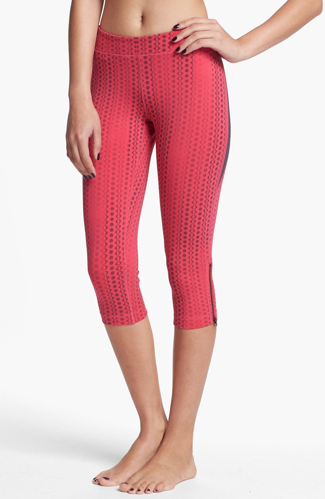 Alternate Image 2  - Unit-Y 'Surefire' Zip Hem Capri Leggings