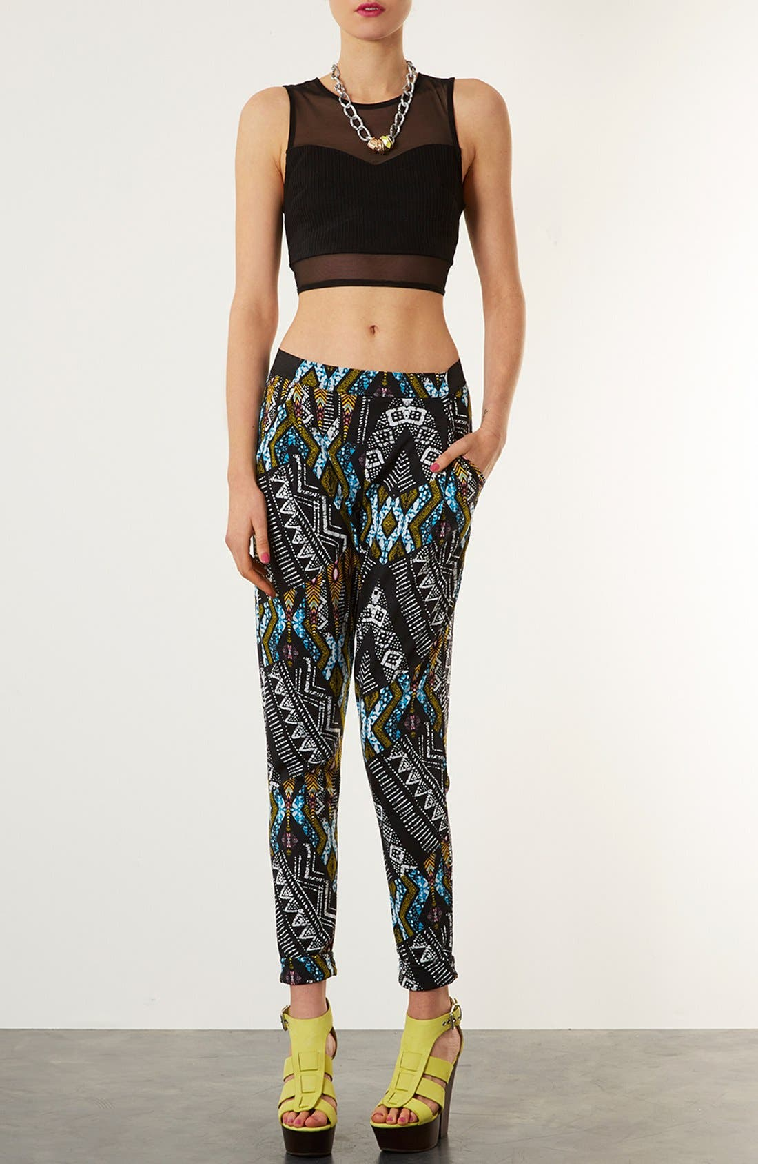 Alternate Image 4  - Topshop African Print Tapered Pants
