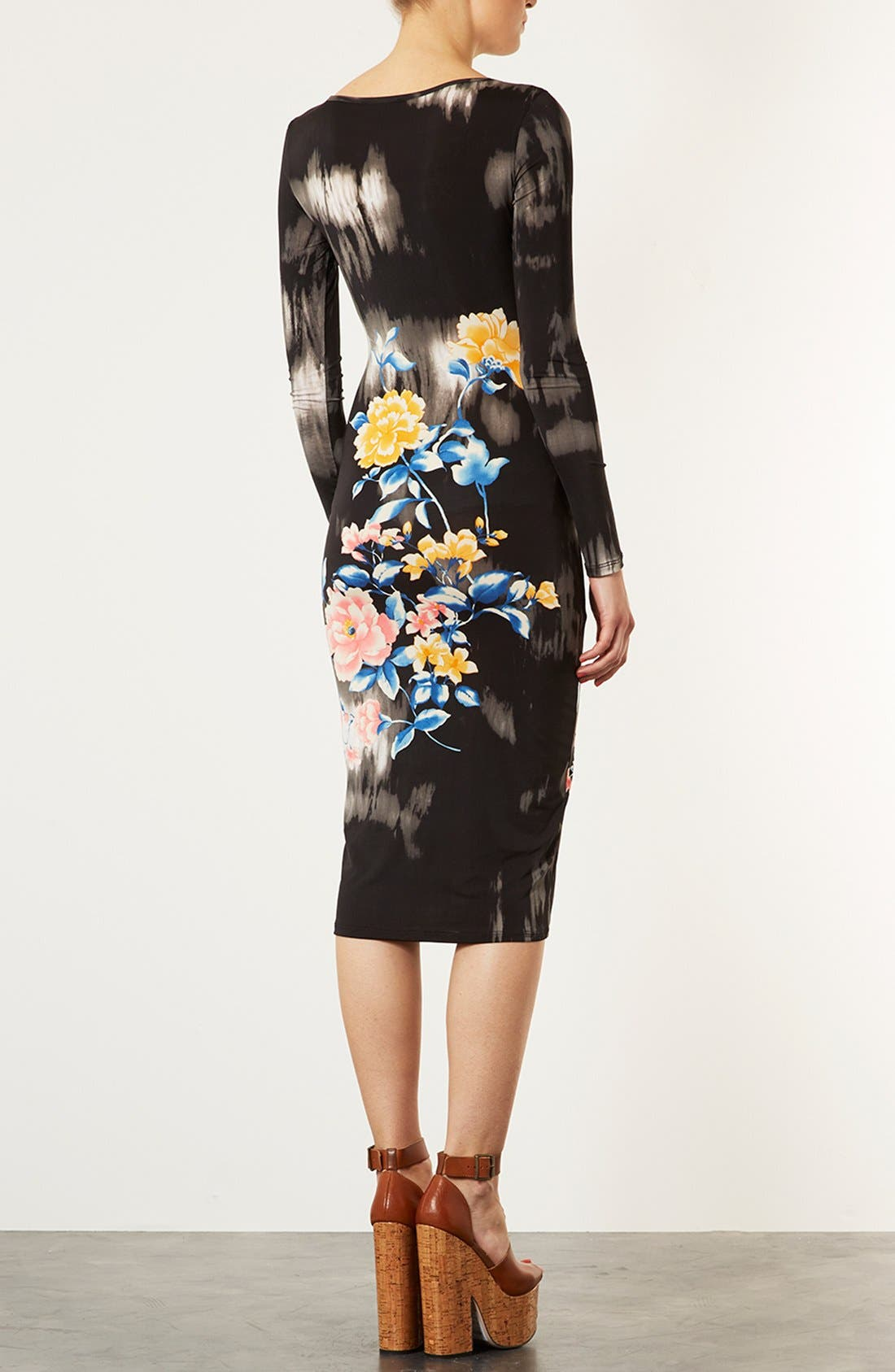Alternate Image 2  - Topshop Eastern Floral Body-Con Dress