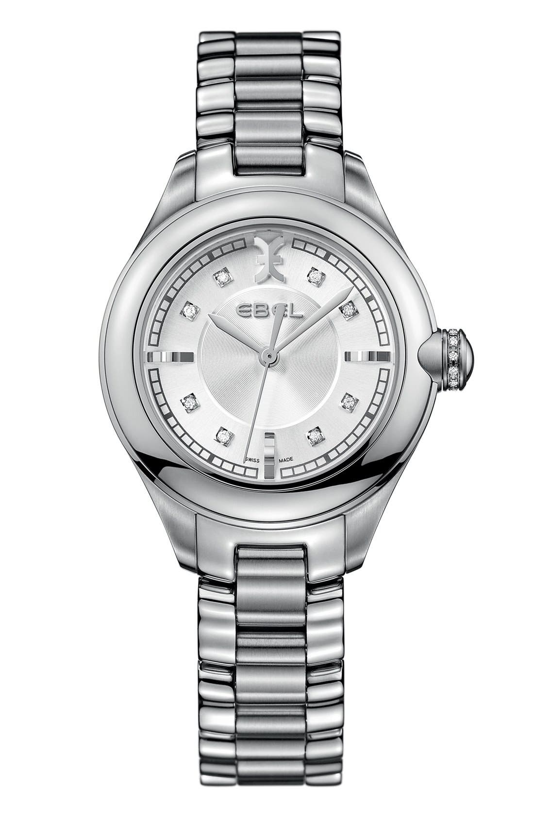 Alternate Image 1 Selected - EBEL 'Onde' Diamond Index Bracelet Watch, 30mm