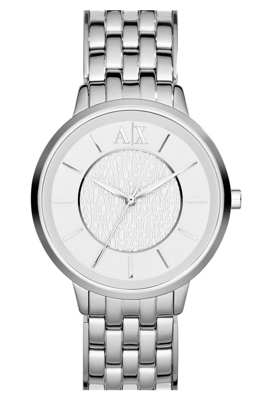 Alternate Image 1 Selected - AX Armani Exchange Round Bracelet Watch, 38mm
