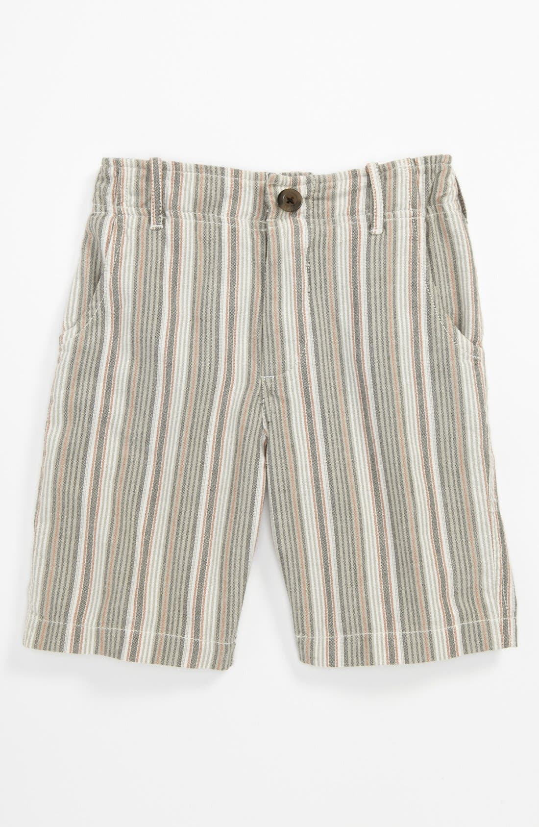 Alternate Image 1 Selected - Peek 'Benito' Stripe Shorts (Big Boys)