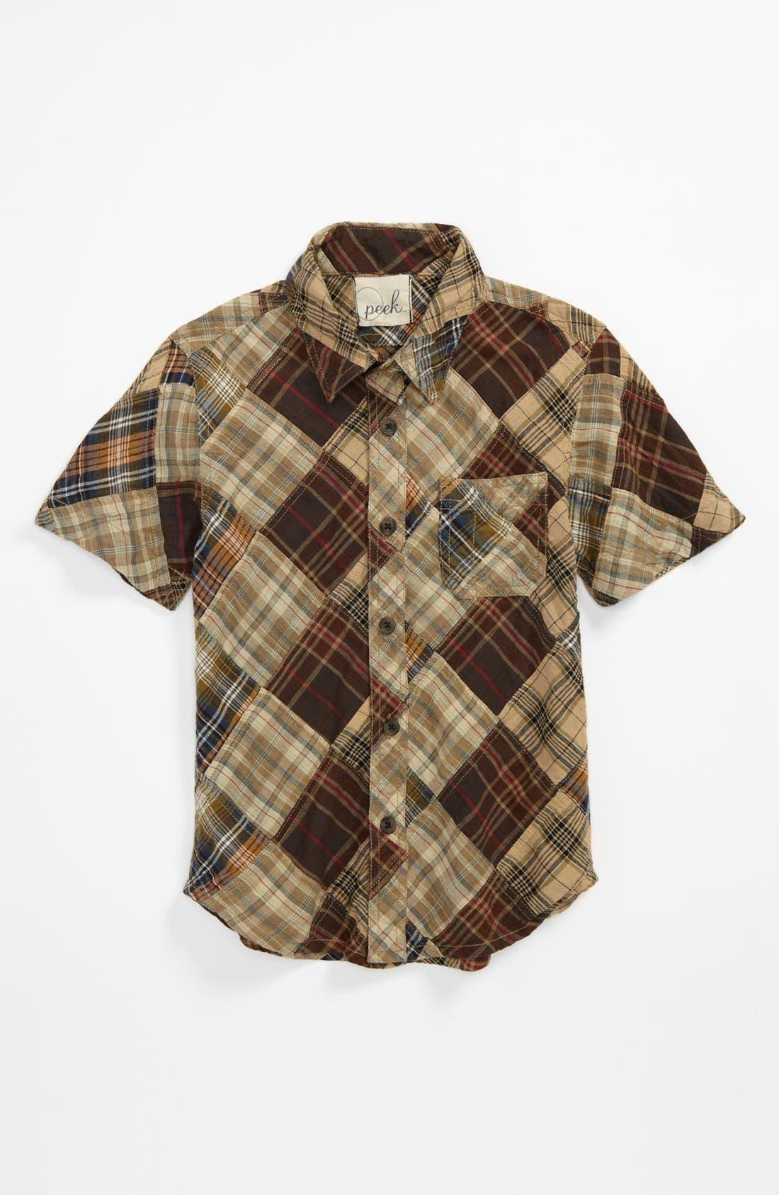 Main Image - Peek 'Grant' Plaid Shirt (Big Boys)