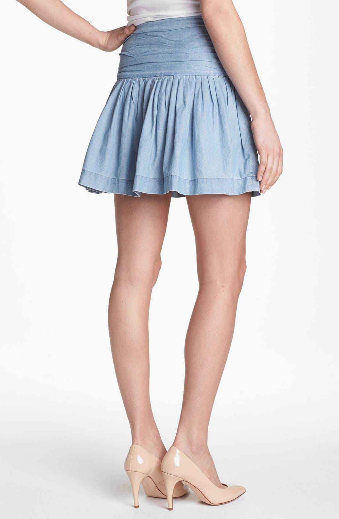 Alternate Image 2  - Paige Denim 'Danni' Ruched Chambray Skirt