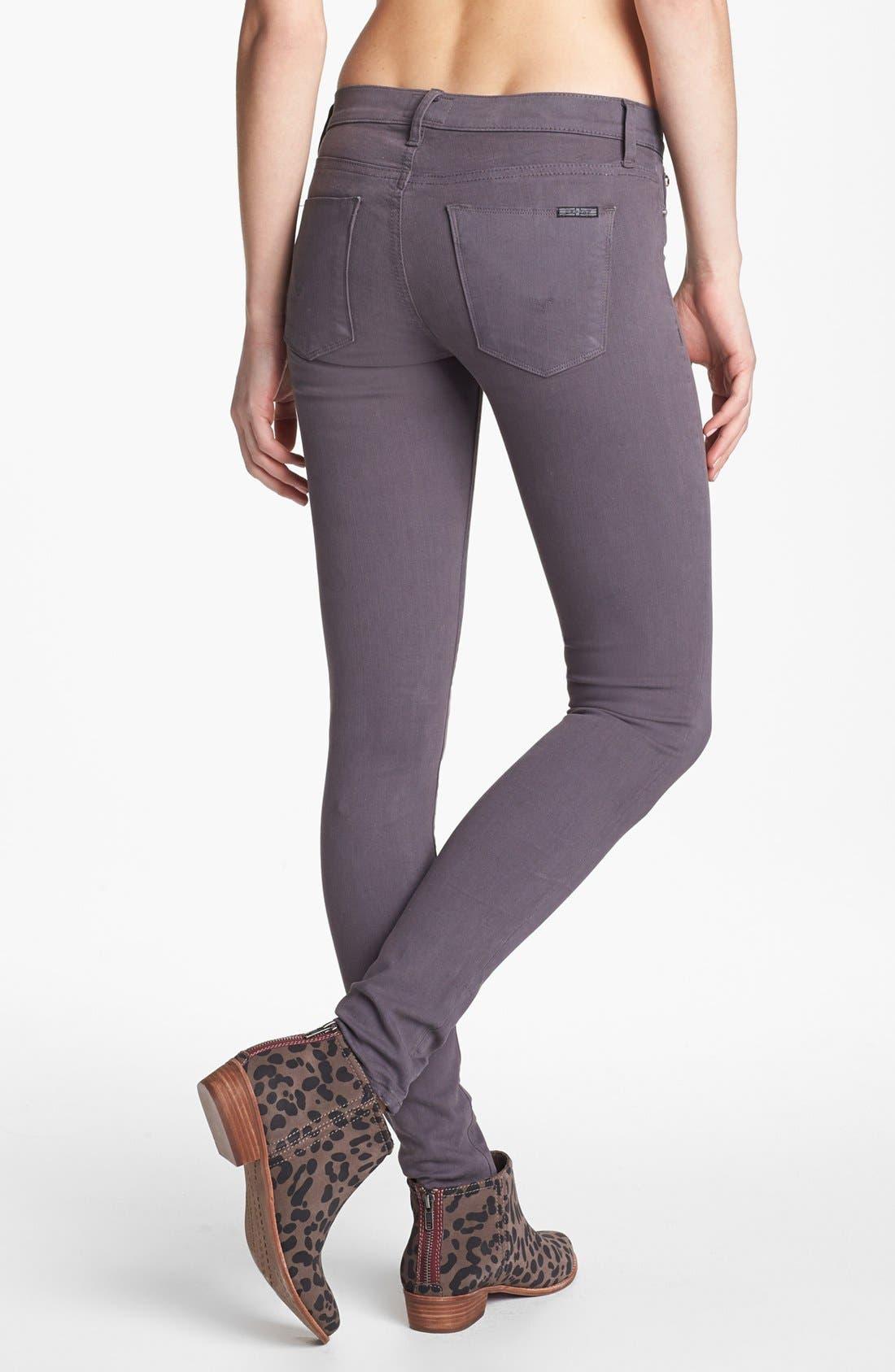 Alternate Image 2  - Hudson Jeans 'Colette' Mid Rise Skinny Jeans (Steel Grey)