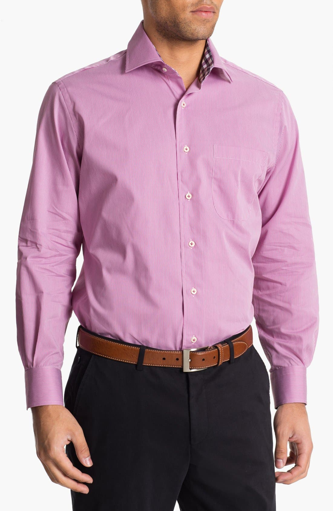 Main Image - Peter Millar Regular Fit Sport Shirt (Tall)