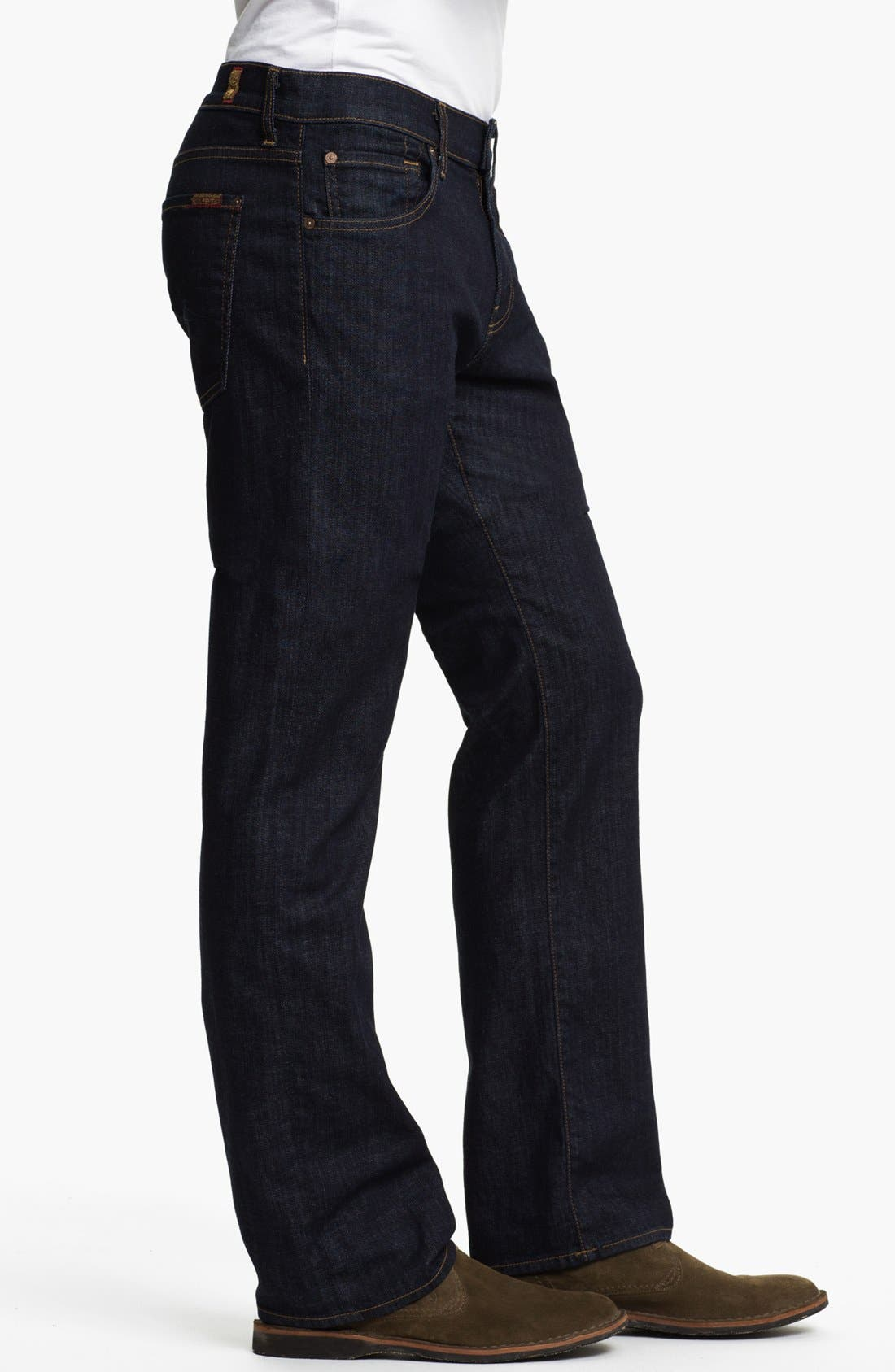 Alternate Image 3  - 7 For All Mankind® 'Austyn' Relaxed Straight Leg Jeans (Dark Clean)