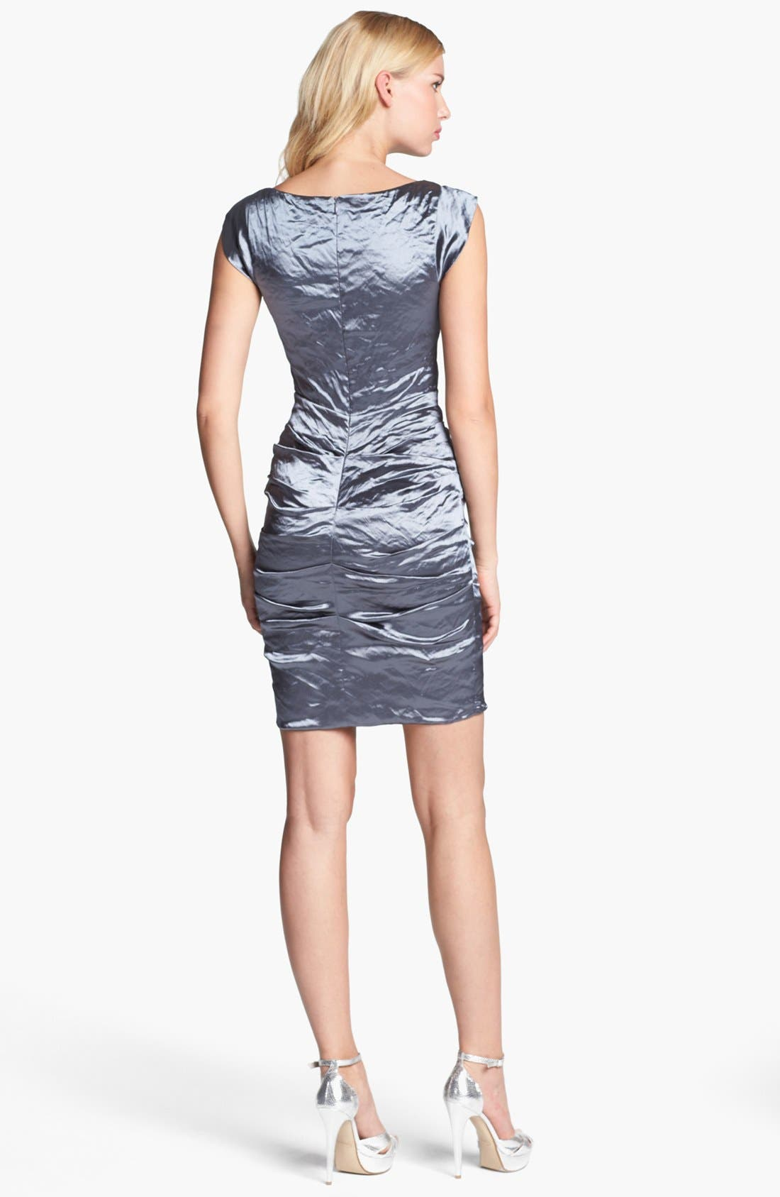 Alternate Image 2  - Nicole Miller Techno Metal Textured Dress