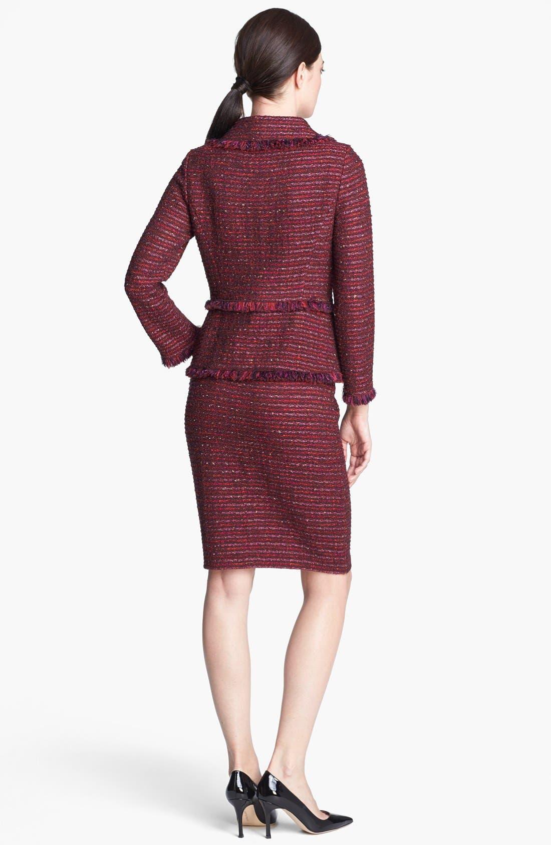 Alternate Image 3  - St. John Collection Organza Ribbon Tweed Knit Pencil Skirt