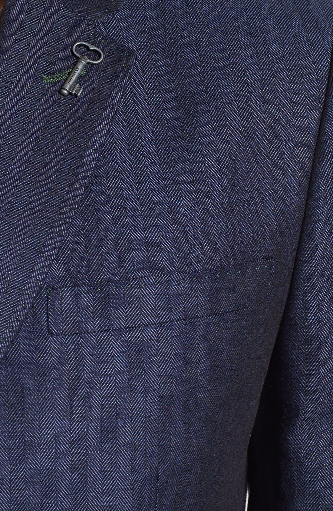 Alternate Image 3  - Ted Baker London Linen Blend Blazer