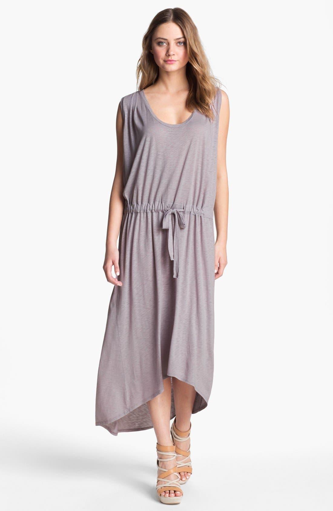 Main Image - Velvet by Graham & Spencer Boxy Sleeveless Drop Waist Midi Dress